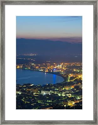 Sea And Beach Resort Framed Print by Ioan Panaite