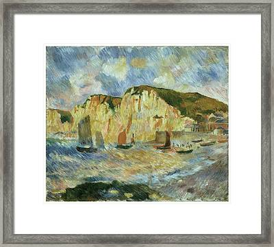 Sea And Cliffs Framed Print by Pierre-Auguste Renoir