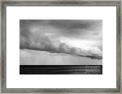 Sea And Clouds Framed Print by Yuri Santin