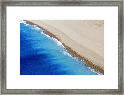 Sea And Sand Framed Print by Wendy Wilton
