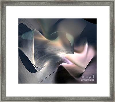 Sea And Shell Framed Print by Christian Simonian