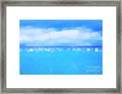 Sea And Sky Abstract Framed Print by Natalie Kinnear