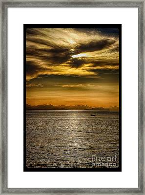 Sea And Sunset In Sicily Framed Print by Stefano Senise