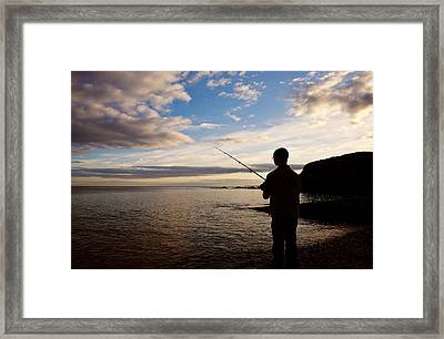 Sea Angling At Stage Cove Framed Print