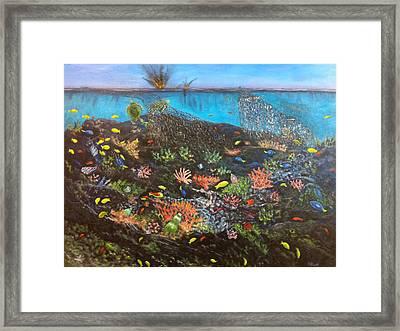 Sea Assault Framed Print