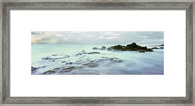 Sea At Dawn, Las Rocas Beach, Baja Framed Print