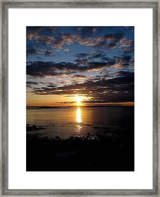 Sea Bank Sunrise Framed Print by Donnie Freeman