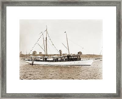 Sea Bird, Sea Bird Steam Yacht, Steam Yachts Framed Print by Litz Collection
