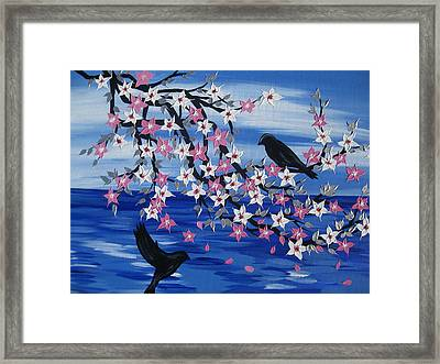 Sea Blossoms Framed Print by Cathy Jacobs