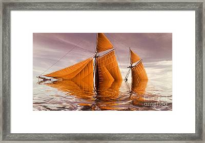 Sea Boat Collections - Naufrage  C02 Framed Print