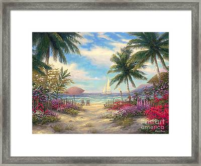 Sea Breeze Path Framed Print by Chuck Pinson