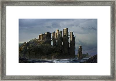 Sea Castle Framed Print