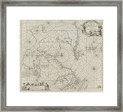 Sea Chart A Part Of The Coast Of Northern Canada Framed Print