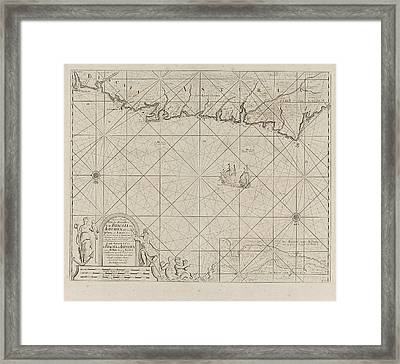Sea Chart Of A Portion Of The Bay Of Biscay In Bilbao Framed Print