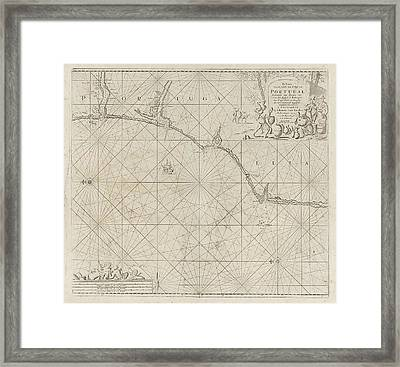 Sea Chart Of A Portion Of The South Coast Of Portugal Framed Print by Jan Luyken And Anonymous And Johannes Van Keulen I