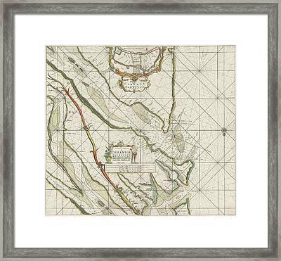 Sea Chart Of The Garonne, France, Johannes Van Keulen Framed Print by Johannes Van Keulen I