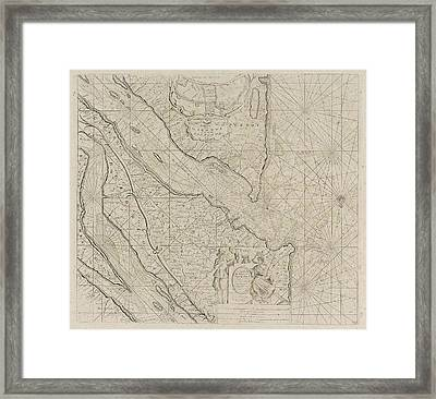 Sea Chart Of The River Gironde To Bordeaux Framed Print by Anonymous And Johannes Van Keulen (i) And Johannes Van Keulen (i)