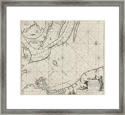 Sea Chart Of The Southern Part Of The Baltic Sea Framed Print