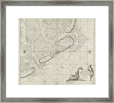 Sea Chart Of The Wadden Sea From Den Helder To Terschelling Framed Print