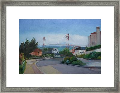 Sea Cliff Area San Francisco  Framed Print