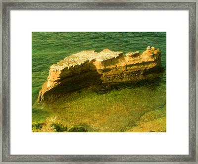 Sea Cliffs Framed Print by Amanda Holmes Tzafrir