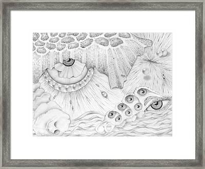 Sea Deep In Wisdom Framed Print by Sharon Ebert