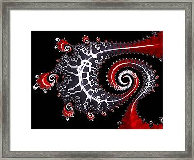 Framed Print featuring the digital art Sea Dragon by Susan Maxwell Schmidt
