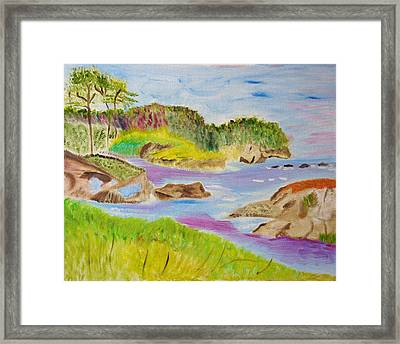 Framed Print featuring the painting Sea Escape by Meryl Goudey