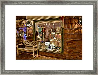 Sea Finds Side Window - Rehoboth Beach Delaware Framed Print
