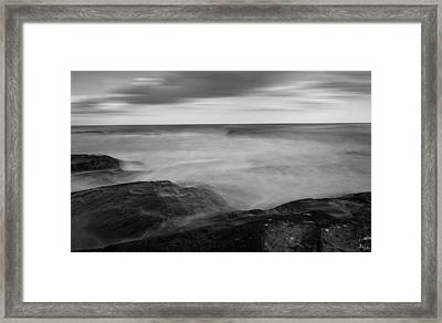 Sea Foam Black And White Framed Print by Lourry Legarde