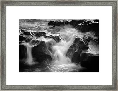 Sea Foam Falls Framed Print by Joseph Smith