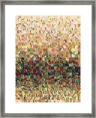 Sea Foam Serenade Framed Print