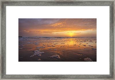 Sea Foam Sunrise Framed Print by Danny Mongosa