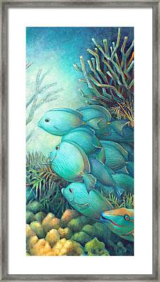 Sea Folk IIi - Blue Tang Framed Print by Nancy Tilles
