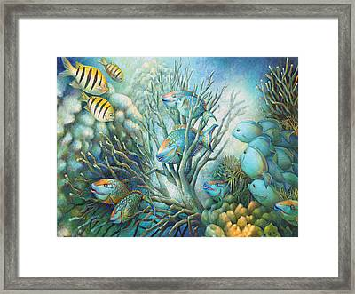 Sea Folk Framed Print by Nancy Tilles