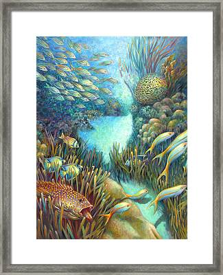 Sea Food Chain - Stalker Framed Print by Nancy Tilles