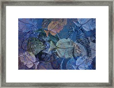 Sea Fossil World Framed Print