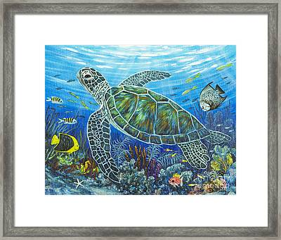 Sea Friends Framed Print