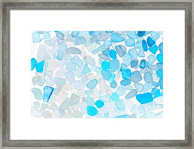 Sea Glass Blue Framed Print