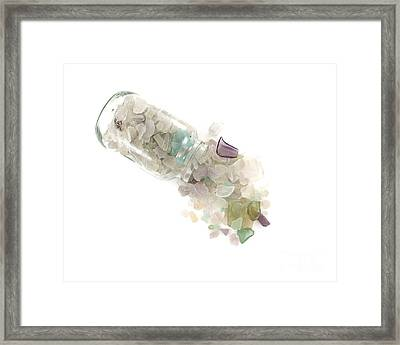 Sea Glass Cornucopia Framed Print