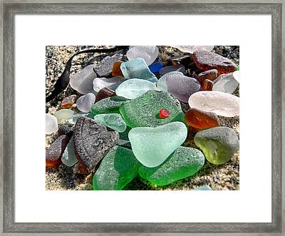 Sea Glass In Multicolors Framed Print