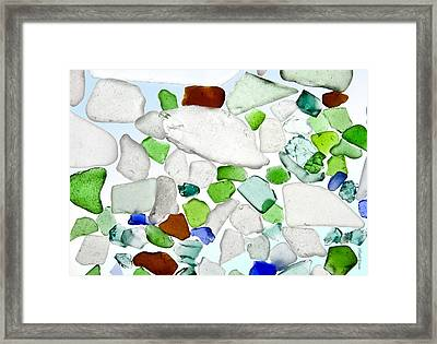 Sea Glass Framed Print by Michelle Wiarda