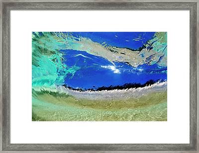 Textured Glass Framed Print by Sean Davey