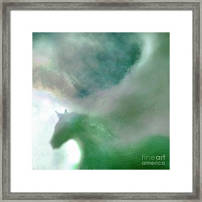 Sea Glass Storm Framed Print