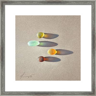 Sea Glass - The Race Framed Print