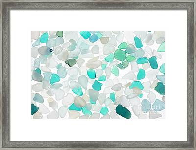 Sea Glass Turquoise Framed Print