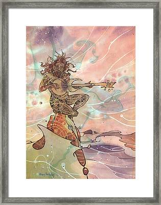 Sea God Guitarist Framed Print