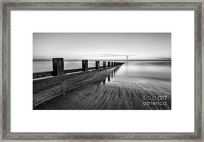 Sea Groynes Portobello Framed Print by John Farnan
