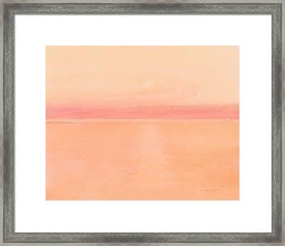 Sea Horizon Framed Print
