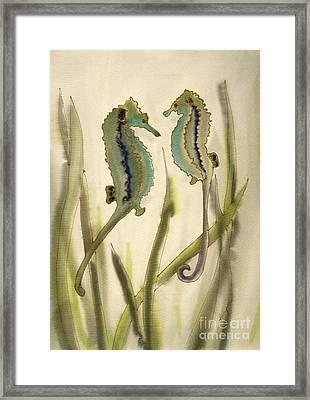 Sea Horses Framed Print by Addie Hocynec